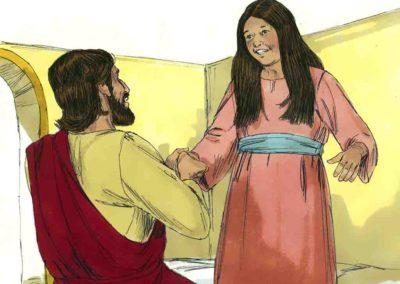 Jesus Restored the Ruler's Daughter To Life (Matthew 9:18-19,23-26)