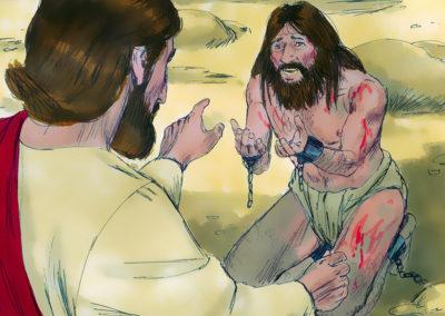 Jesus Healed A Demon Possessed Man (Mark 5:1-20)