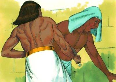 Moses murdered an Egyptian (Exodus 2:11-23)