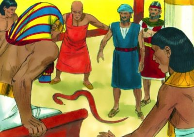 Aaron and Moses went to see Pharaoh (Exodus 4:27-7:13)