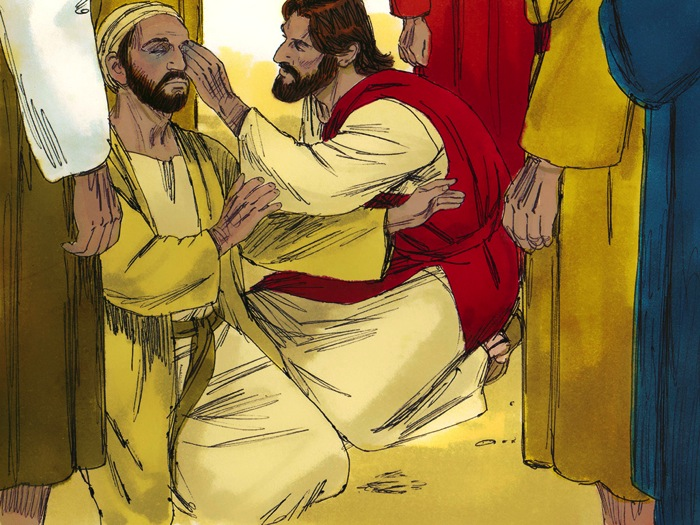 Jesus Heals A Man Who Was Borned Blind (John 9:1-41)