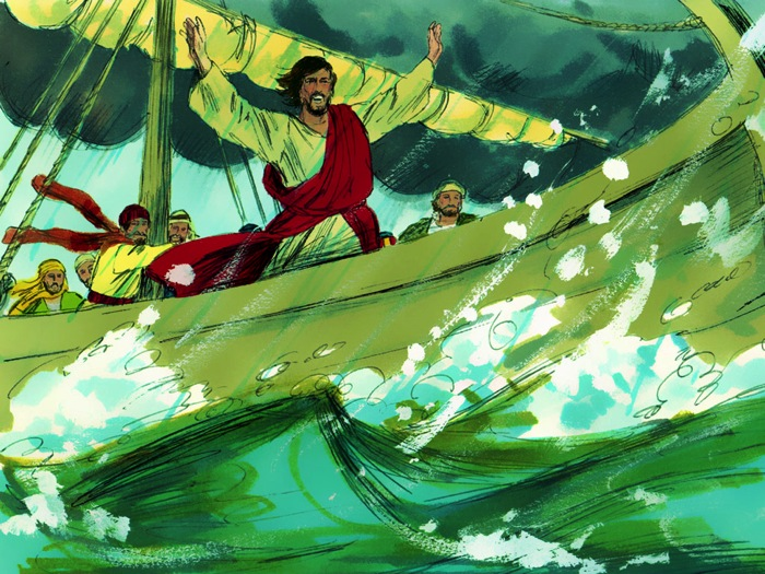 Jesus Calms A Storm (Matthew 8:23-27)