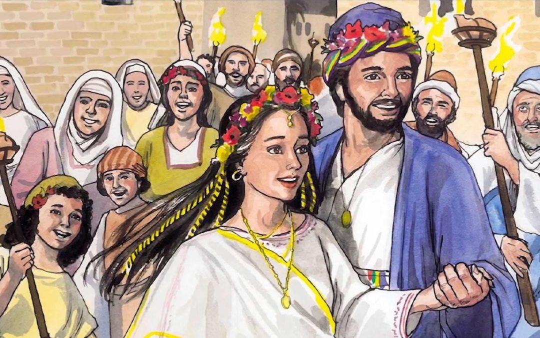 Jesus turns water to wine at a wedding- John 1:1-12